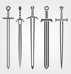 Medieval sword icon vector