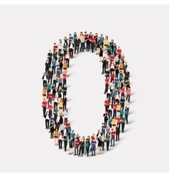 People form number zero vector
