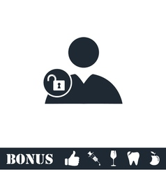 Person lock icon flat vector image