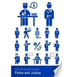 police and justice vector image vector image