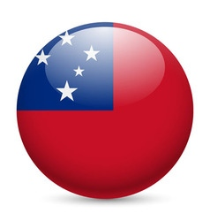 Round glossy icon of samoa vector