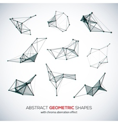 Set of abstract geometric shapes vector image vector image