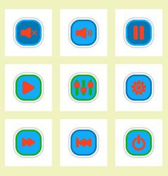 Set ofcolor label design icon design vector