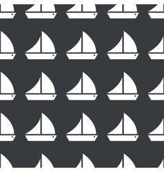 Straight black sailing ship pattern vector