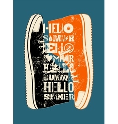 Summer typographic grunge retro poster design vector image vector image