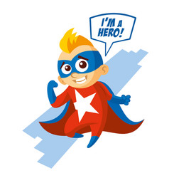 superhero boy cartoon character vector image vector image