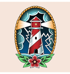 tattoo beacon vector image vector image