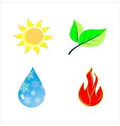 Various nature icons vector image