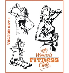 Womens Fitness GYM - stock vector image vector image