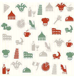 Italian seamless pattern vector