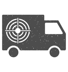 Shooting Gallery Truck Icon Rubber Stamp vector image