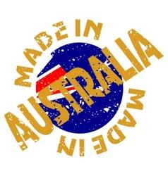 Made in Australia vector image