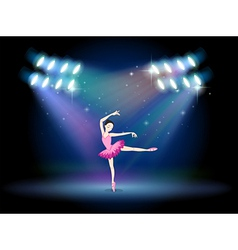 A woman dancing ballet with spotlights vector