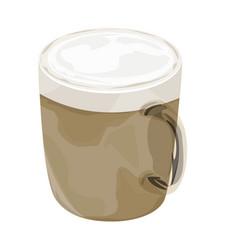 Hot cappuccino coffee icon vector