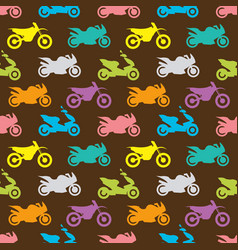 retro motorcycle seamless pattern vector image