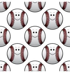 Baseball seamless pattern vector image