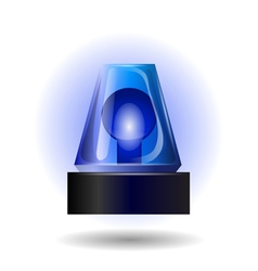 Blue flashing light vector
