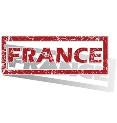 France outlined stamp vector