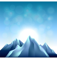 Nature background with mountains vector