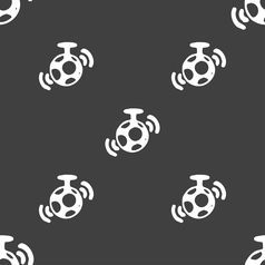 Mirror ball disco icon sign seamless pattern on a vector