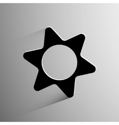Icon gears background vector