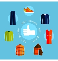 Best quality clothes flat style design quality vector