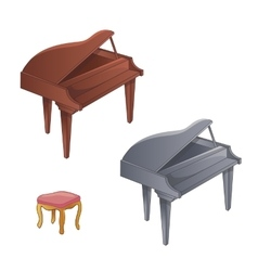 Set of two colors piano vector