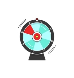 Wheel of fortune spinning icon vector