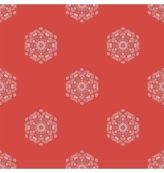 Creative ornamental seamless red pattern vector