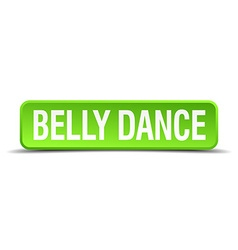 Belly dance green 3d realistic square isolated vector