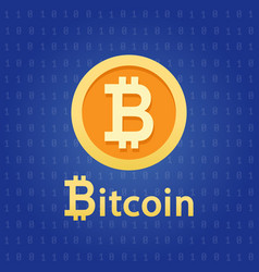 bitcoin crypto currency digital money vector image