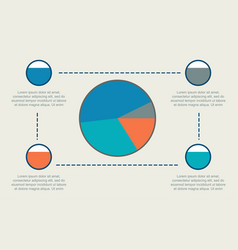 Business infographic with diagram style collection vector