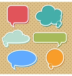 Colorful speech bubbles set vector