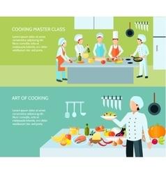 Cooking art banner set vector