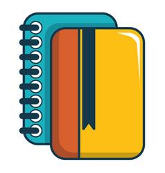 Copybook icon cartoon style vector