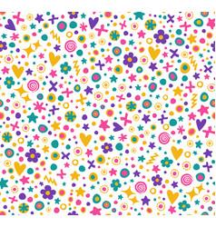 cute seamless flower pattern vector image