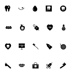 Dental icons 4 vector