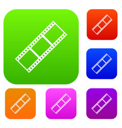 film strip set collection vector image