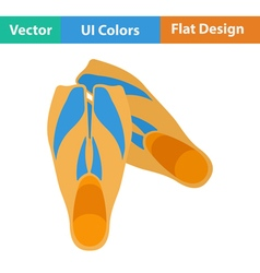Flat design icon of swimming flippers vector image vector image