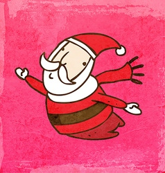 Flying santa claus cartoon vector