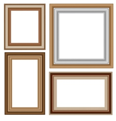 Four wooden frameworks vector
