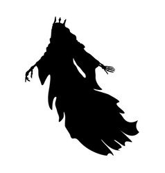 Ghost king silhouette scary monster fantasy vector