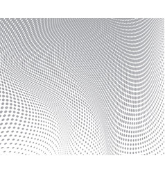 gray circles on white background halftone wave vector image vector image