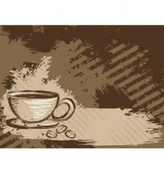 grunge coffee background horizontal vector image vector image