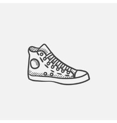 Gumshoes sketch icon vector image