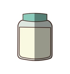 Jar container ingredient cooking shadow vector