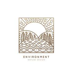 logo square nature vector image vector image