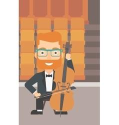 Man playing cello vector