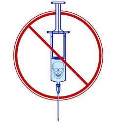 medical syringe with drug vector image vector image