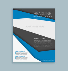 Modern brochure flyer template vector